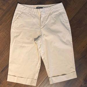 Womens Docker Khaki Capri Crop Pants Size 8